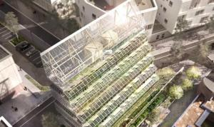 Vertical farming proposal Paris curated