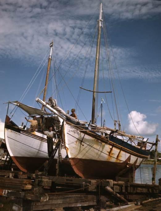 Greek_sponge_boats_on_ways-_Tarpon_Springs,_Florida_(8516004390)